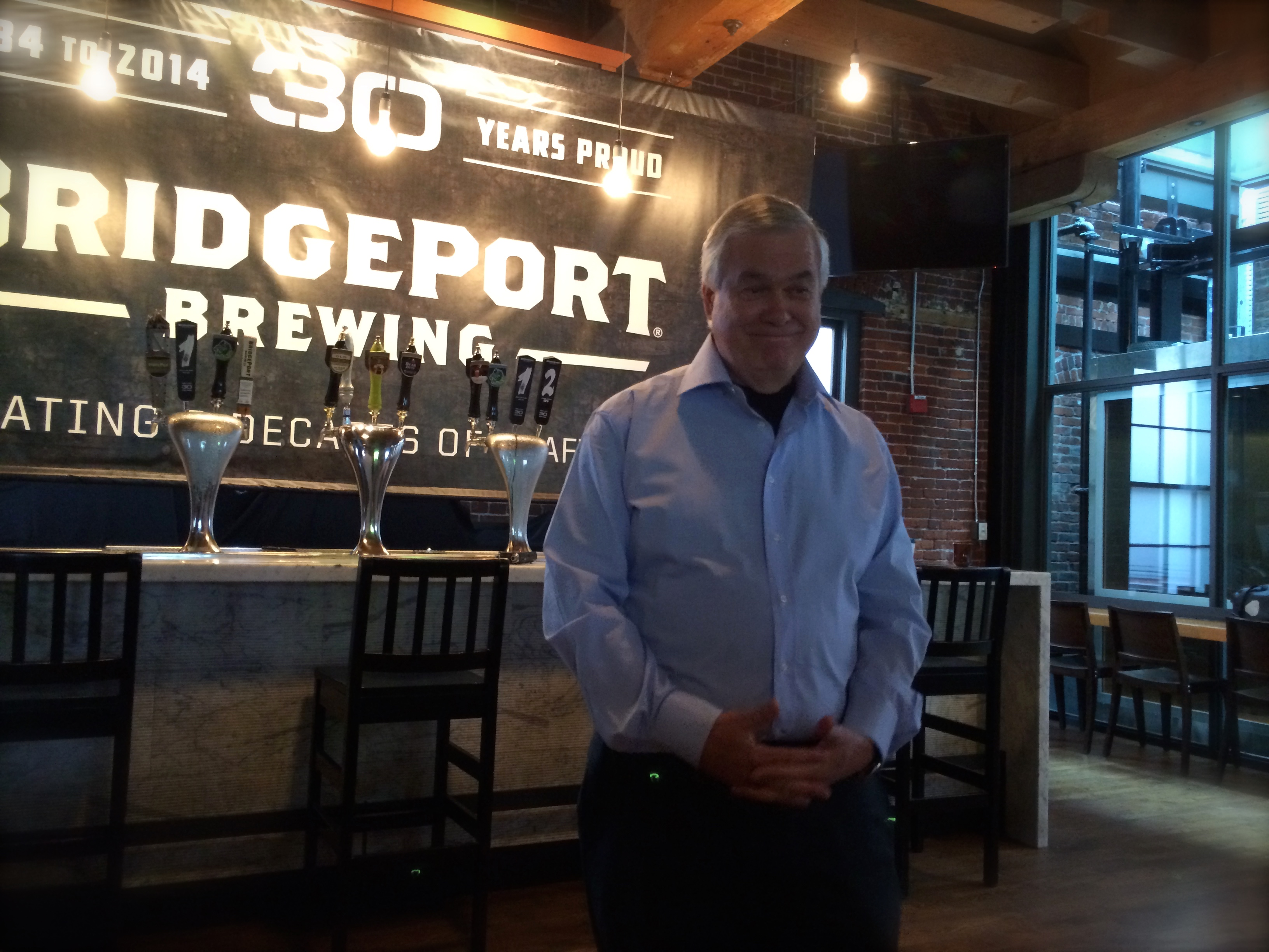 Carlos Alvarez, founder and owner of The Gambrinus Company at BridgePort Brewing