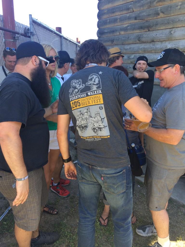 David Walker pouring a rare beer at the 2015 Firestone Walker Invitational Beer Fest