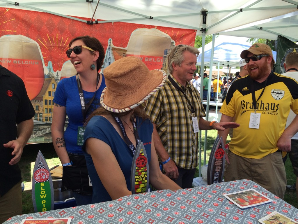 Dick Cantwell, formerly of Elysian Brewing, in the New Belgium Tent at 2015 Firestone Walker Invitational Beer Fest