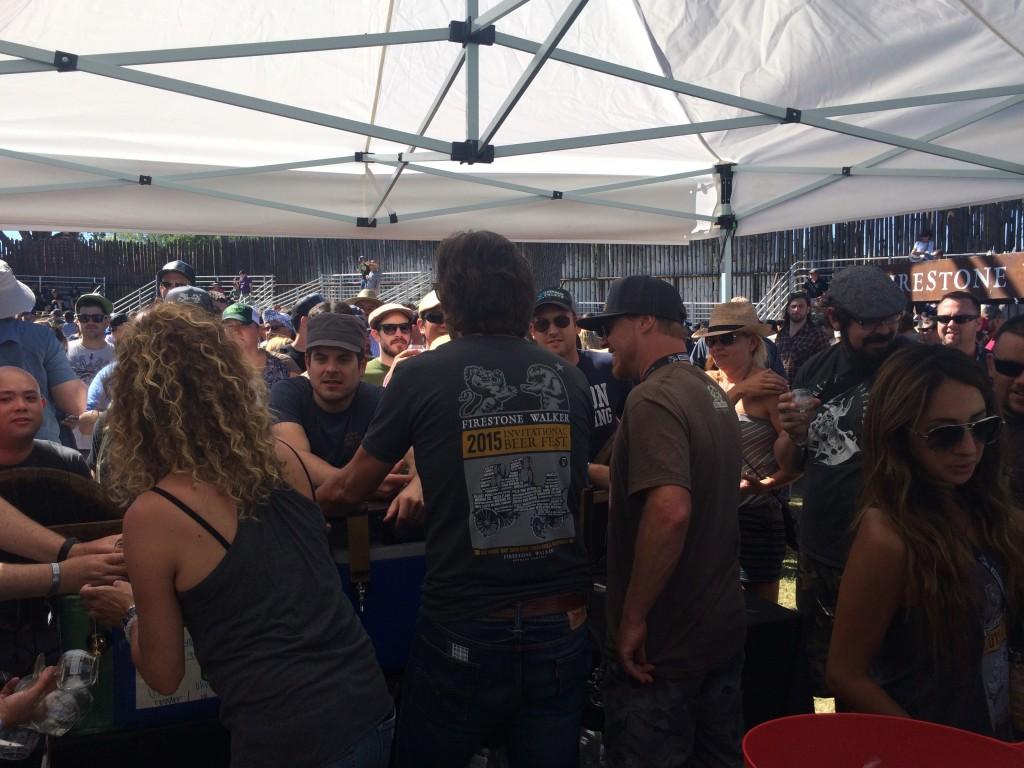 Firestone Walker Barrelworks Booth at 2015 Firestone Walker Invitational Beer Fest