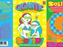Gigantic SOLID! Hoppy American Wheat Beer Label