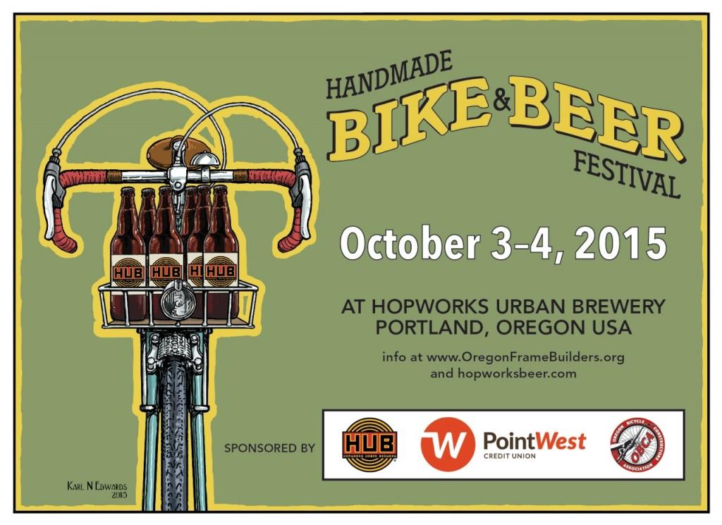 Hopworks Handmade Bike & Beer Fest Postcard