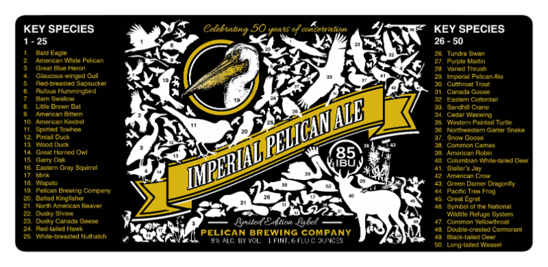 Imperial Pelican Ale Commemorative Label