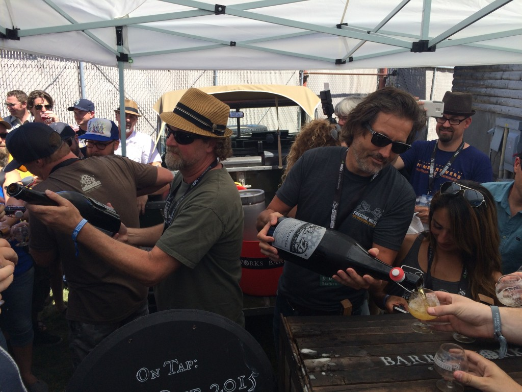Jeffers Richardson & David Walker pouring Feral Vinifera at 2015 Firestone Walker Invitational Beer Fest