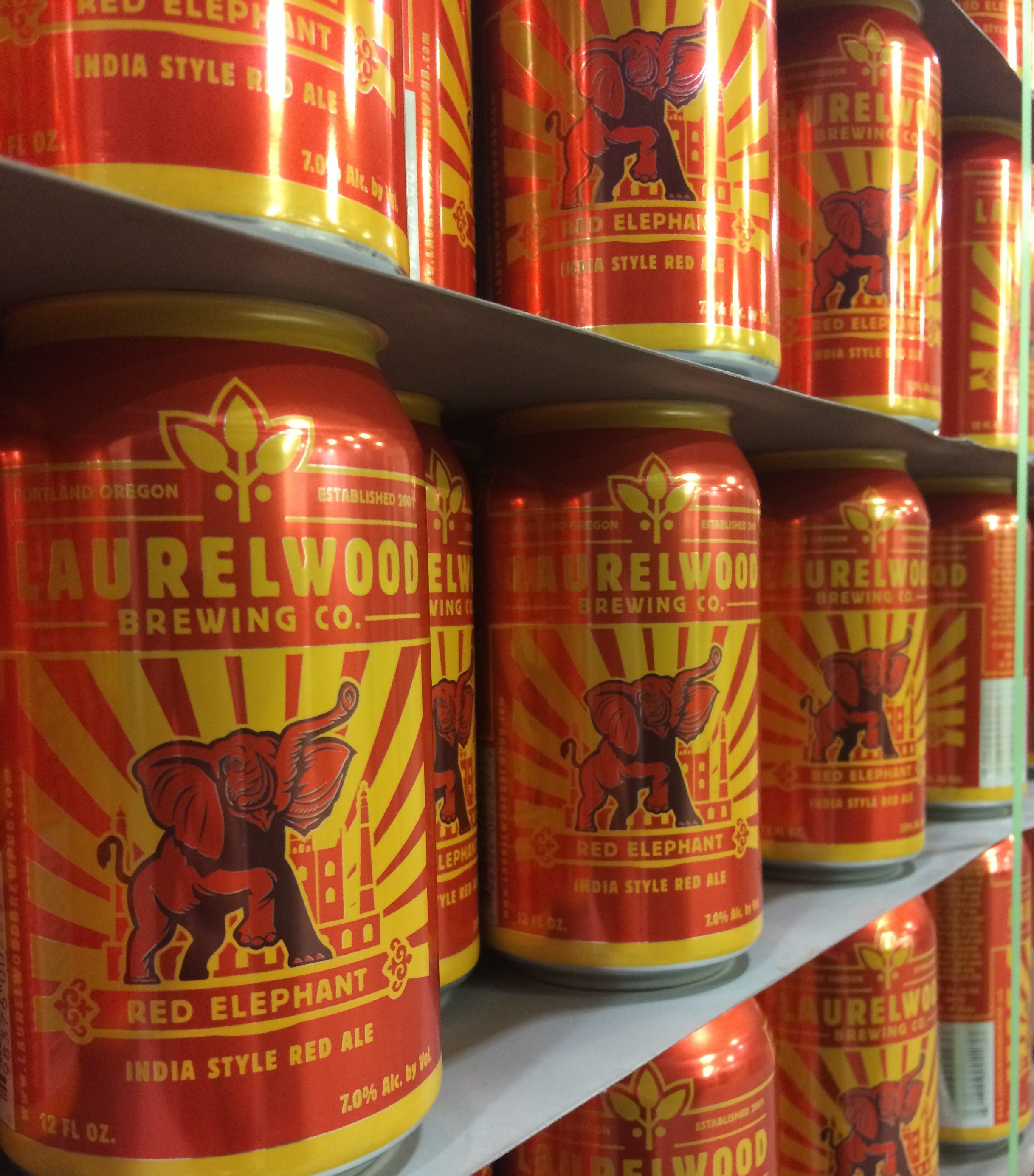 Laurelwood Brewing Red Elephant IRA in Cans