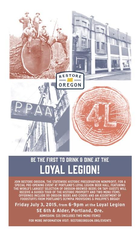 Loyal Legion Beer Hall Poster