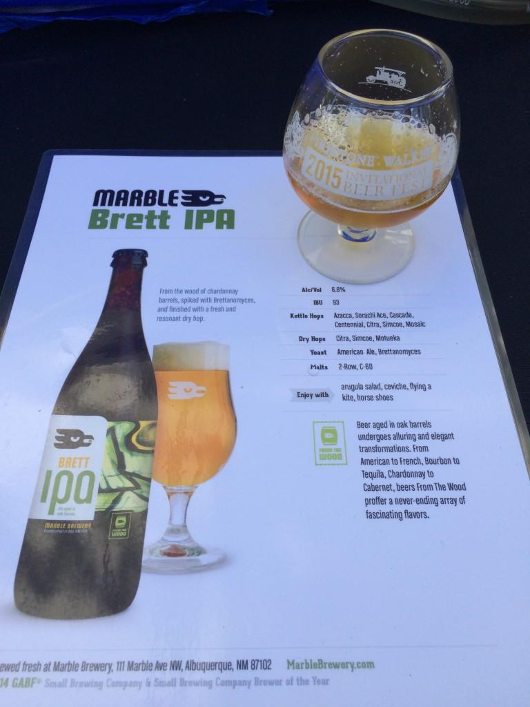 Marble Brett IPA at 2015 Firestone Walker Invitational Beer Fest