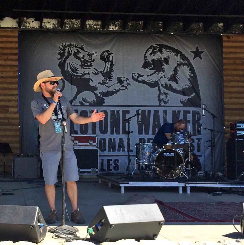 Matt Brynildson on stage at 2015 Firestone Walker Invitational Beer Fest.