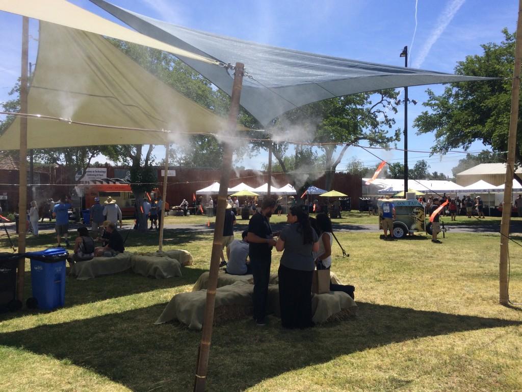 Misting Tent at 2015 Firestone Walker Invitational Beer Fest
