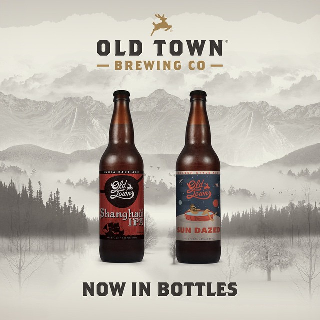 Old Town Brewing Bottles Shanghai'd IPA & Sun Dazed Kolsch
