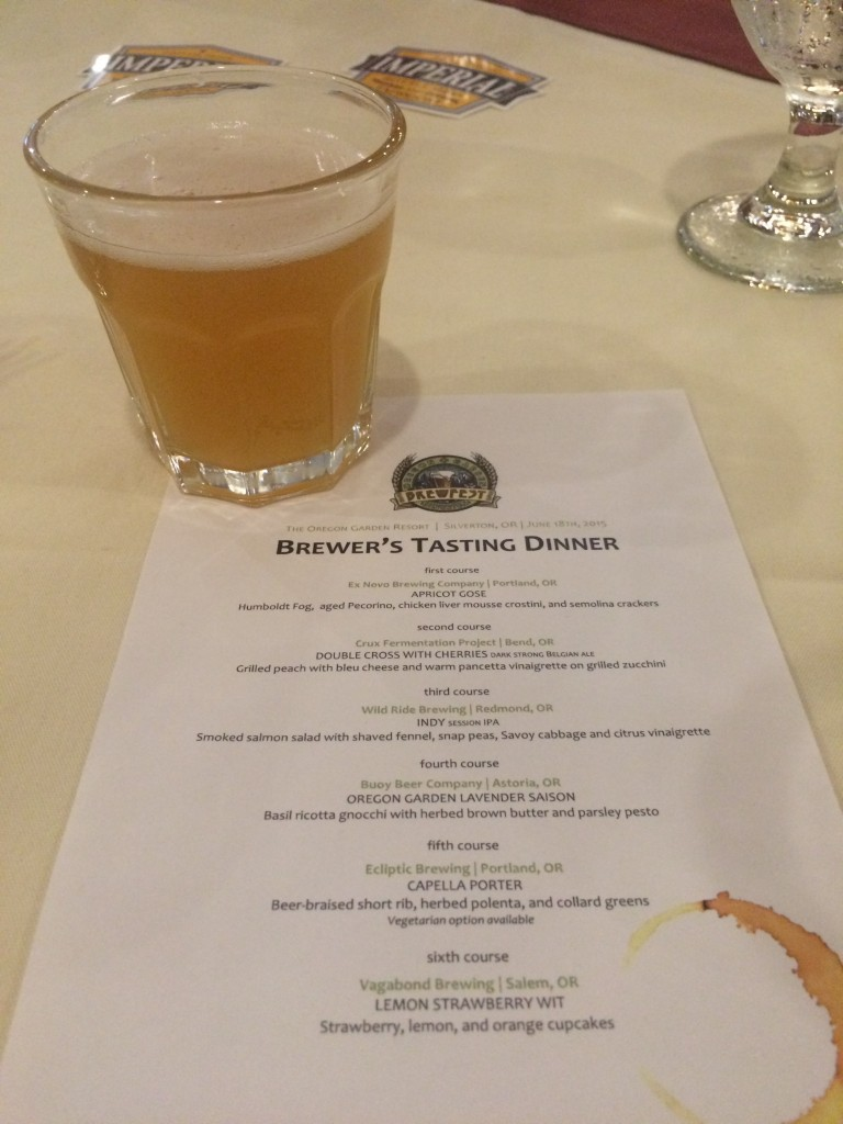 Oregon Garden Brewfest Dinner Menu