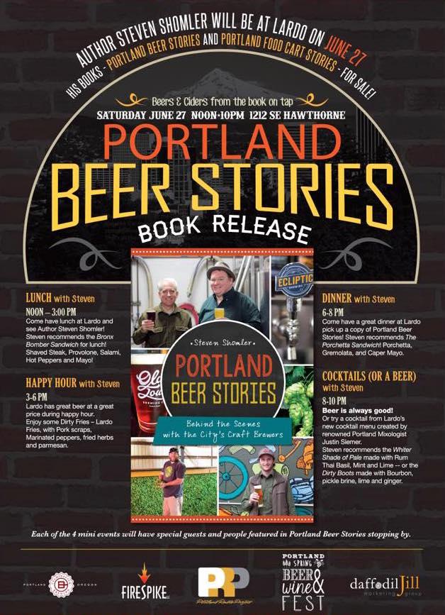 Portland Beer Stories Book Release at Lardo SE Hawthorne