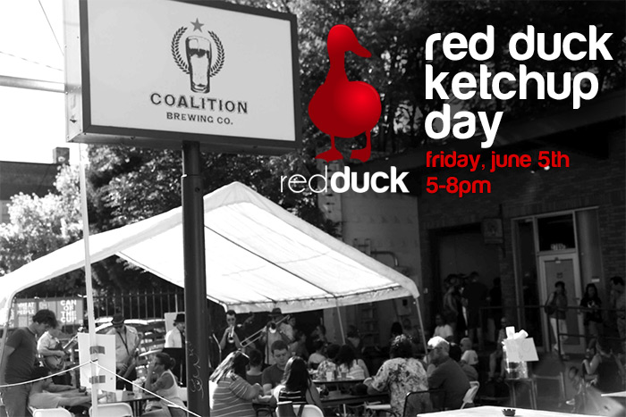 Red Duck Ketchup Day at Coalition Brewing June 5