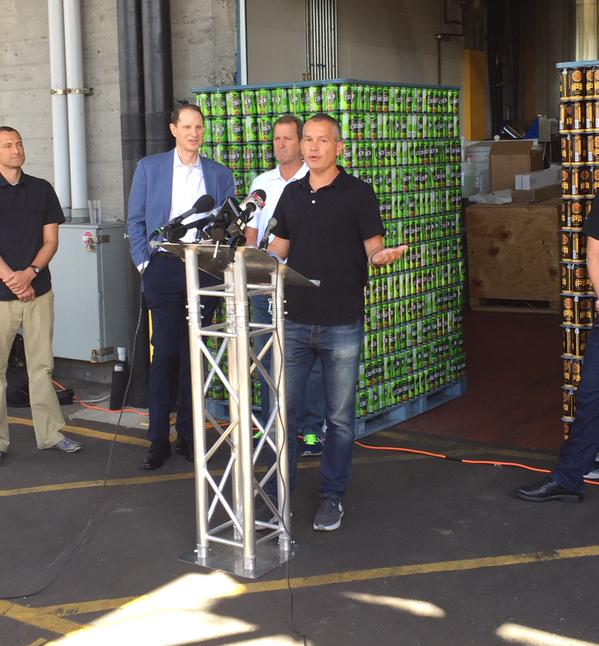 Rogue Ales, Brett Joyce speaking in support of the Craft Beverage Modernization and Tax Reform Act, S. 1562, proposed by Sen. Ron Wyden, D-Ore. (photo courtsey of the Beer Institute)