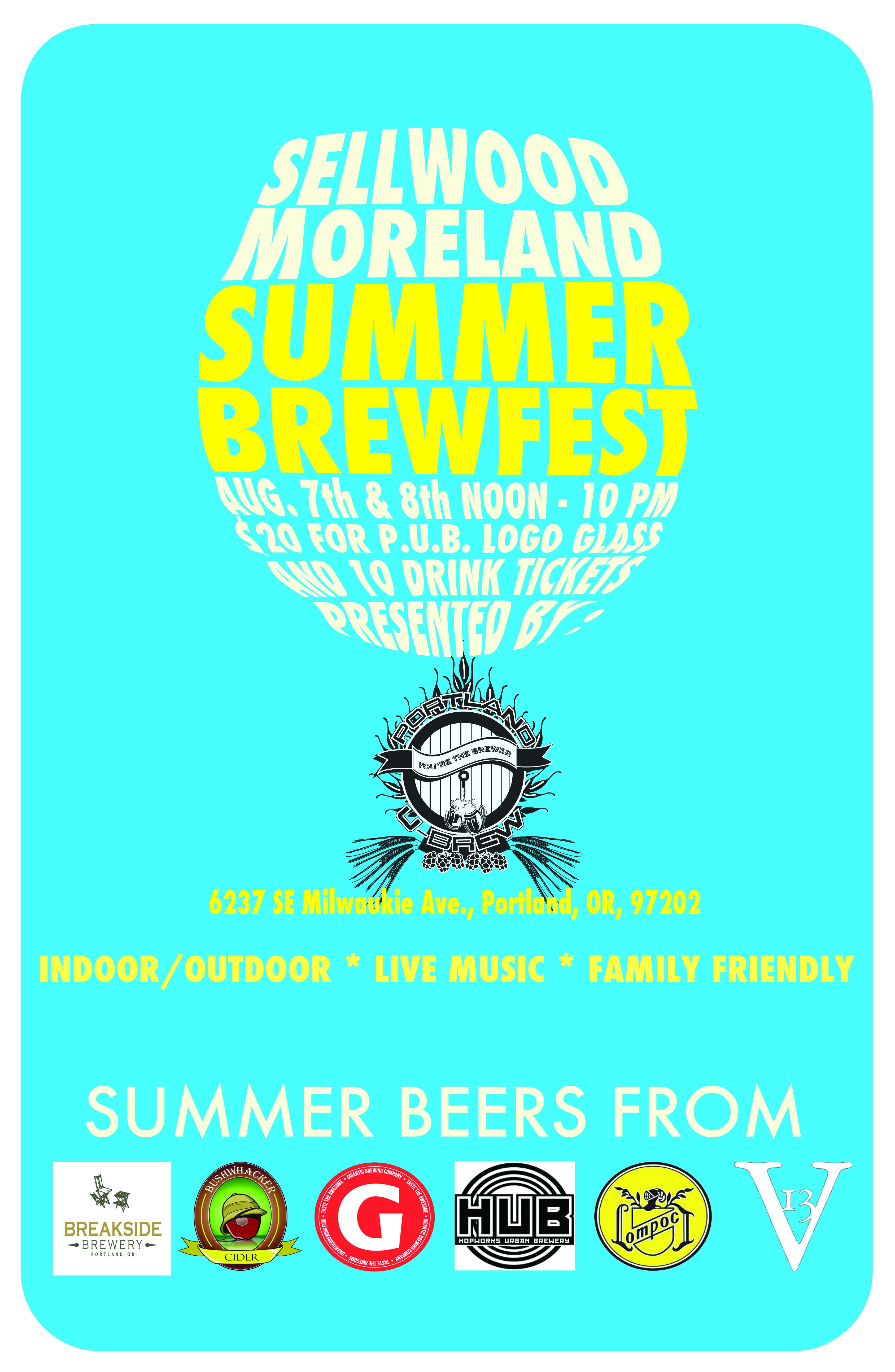 Sellwood Moreland Summer Brewfest at Portland U-Brew