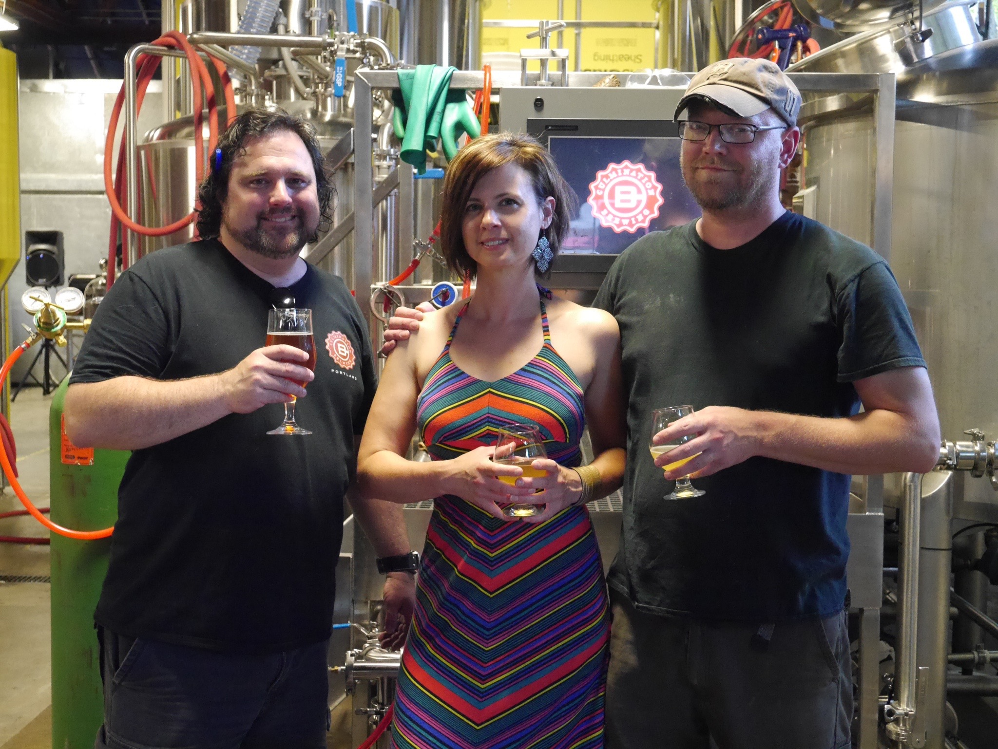 Steven Shomler, April Sluiter and Tomas Sluiter at Culmination Brewing in NE Portland