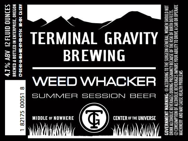 Terminal GravityWeed Whacker 2015 Label