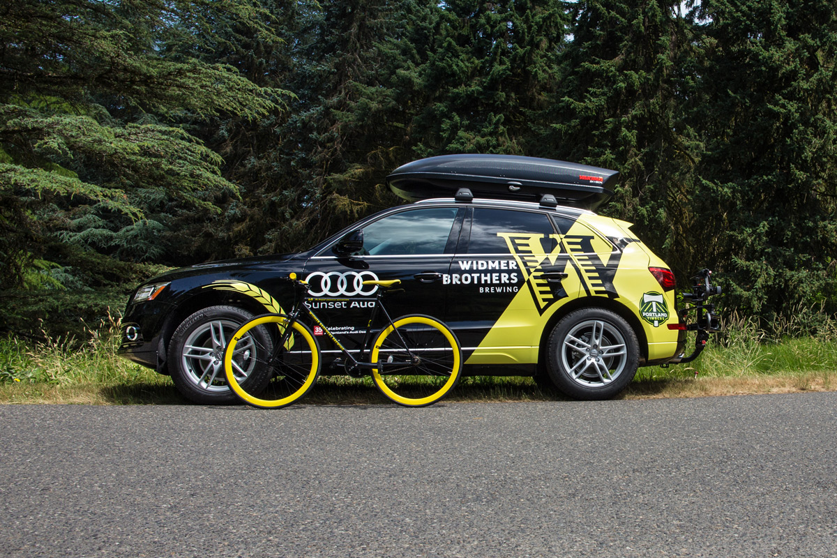 Widmer Brothers Brewing 100 Days of Hefe Audi Q5 + Hefe Bike