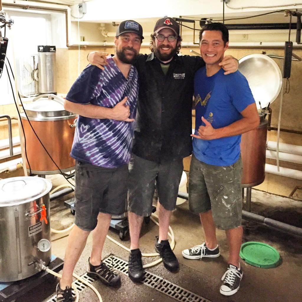 L to R: U-Brew's Jason Webb, Brewpublic's Angelo De Ieso, and NBTS's Jon Bebe