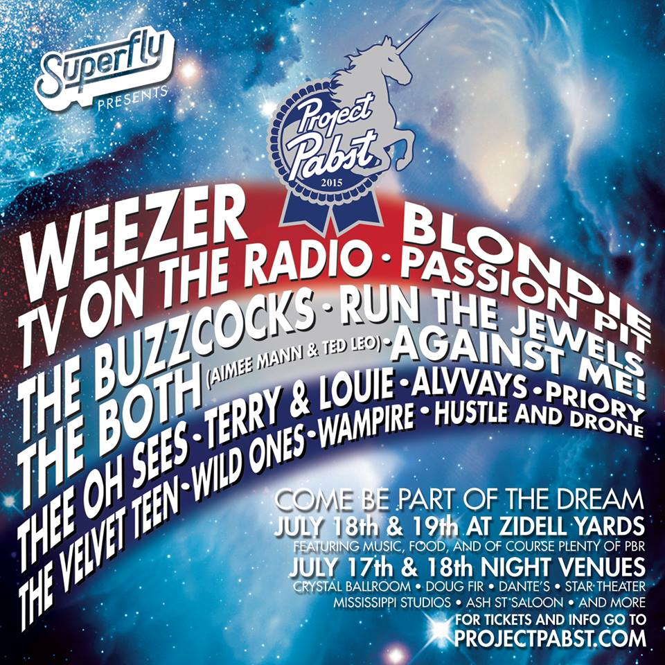 2015 Project Pabst Music Lineup