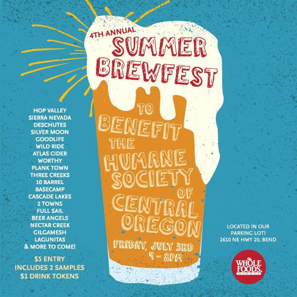 4th Annual Summer Brewfest at Whole Foods Bend Oregon