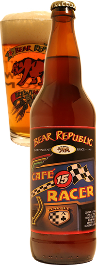 Bear Republic Cafe Racer 15 Bottle Pour