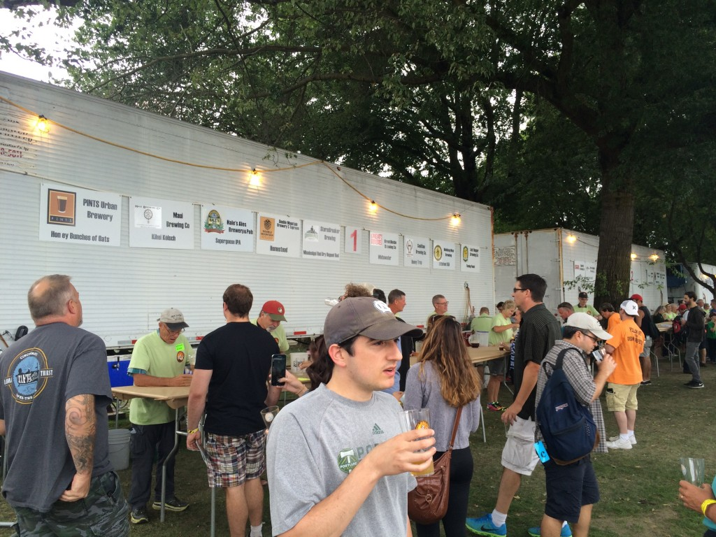Beer trailers at the Oregon Brewers Festival