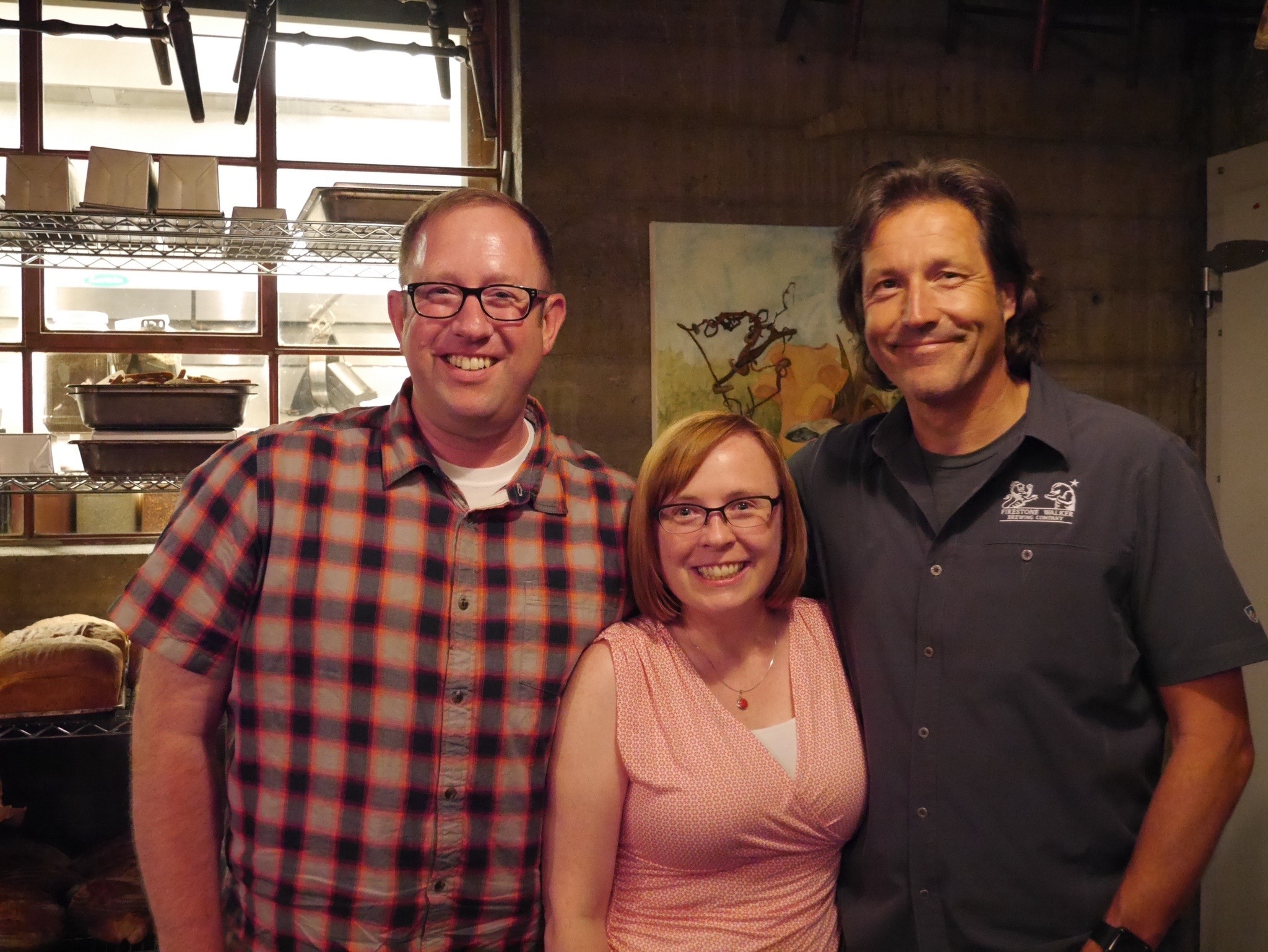 Brewpublic's D.J. Paul and Cat Stelzer with David Walker of Firestone Walker at Old Salt Marketplace