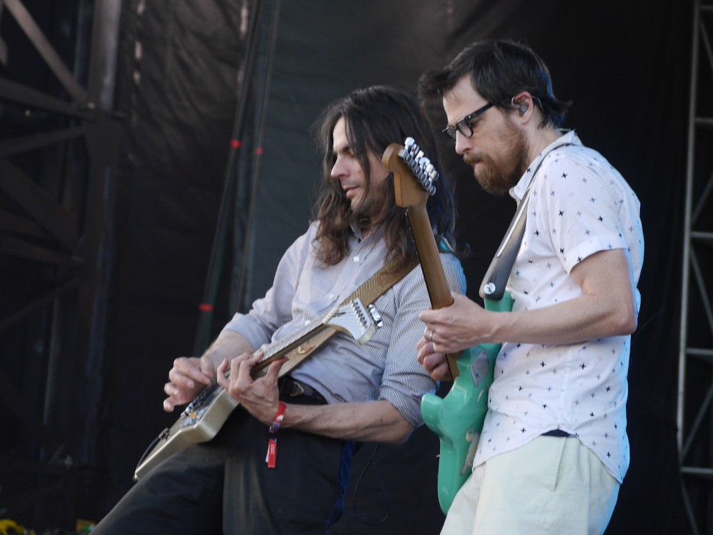 Brian Bell & Rivers Cuomo of Weezer at Project Pabst (photo by Cat Stelzer)