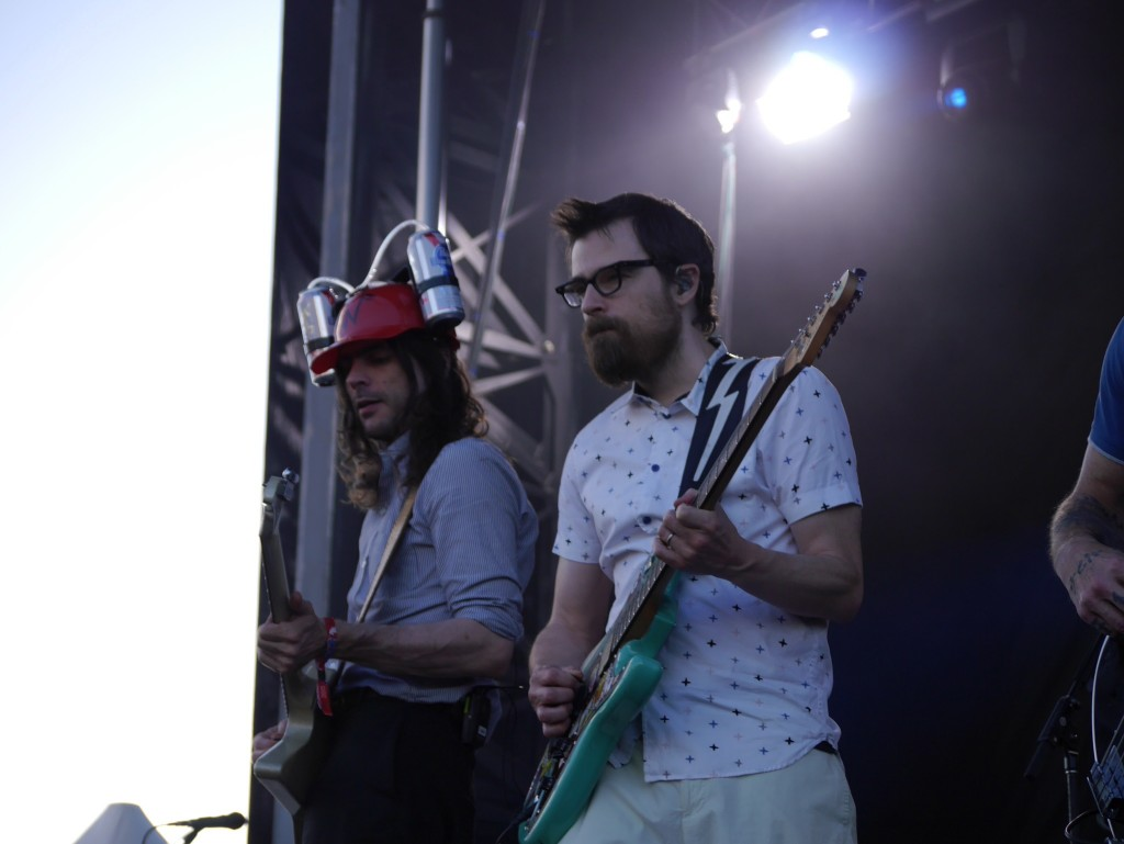 Brian Bell and River Cuomos of Weezer at Project Pabst (photo by Cat Stelzer)