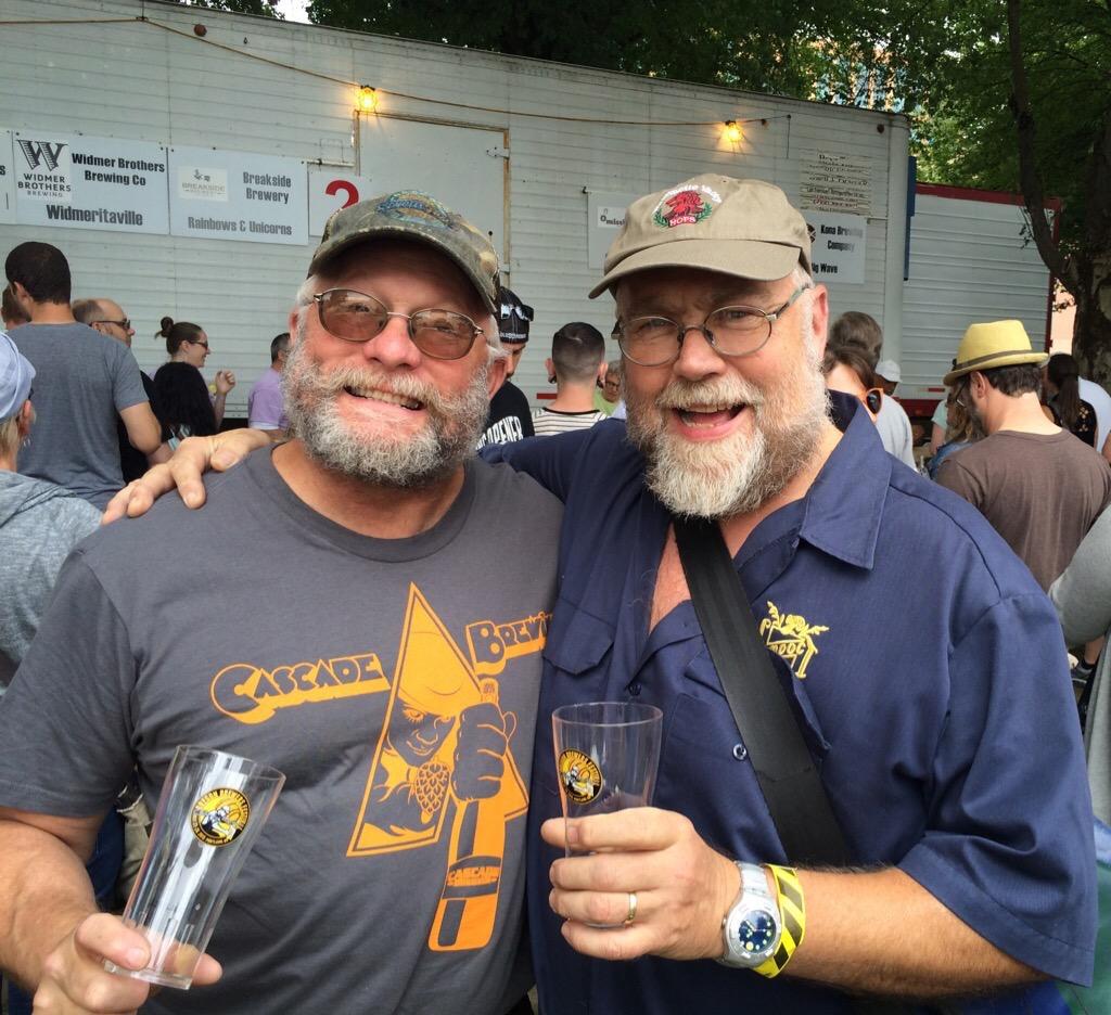 Cascade Brewing's Ron Gansberg and John Foyston.