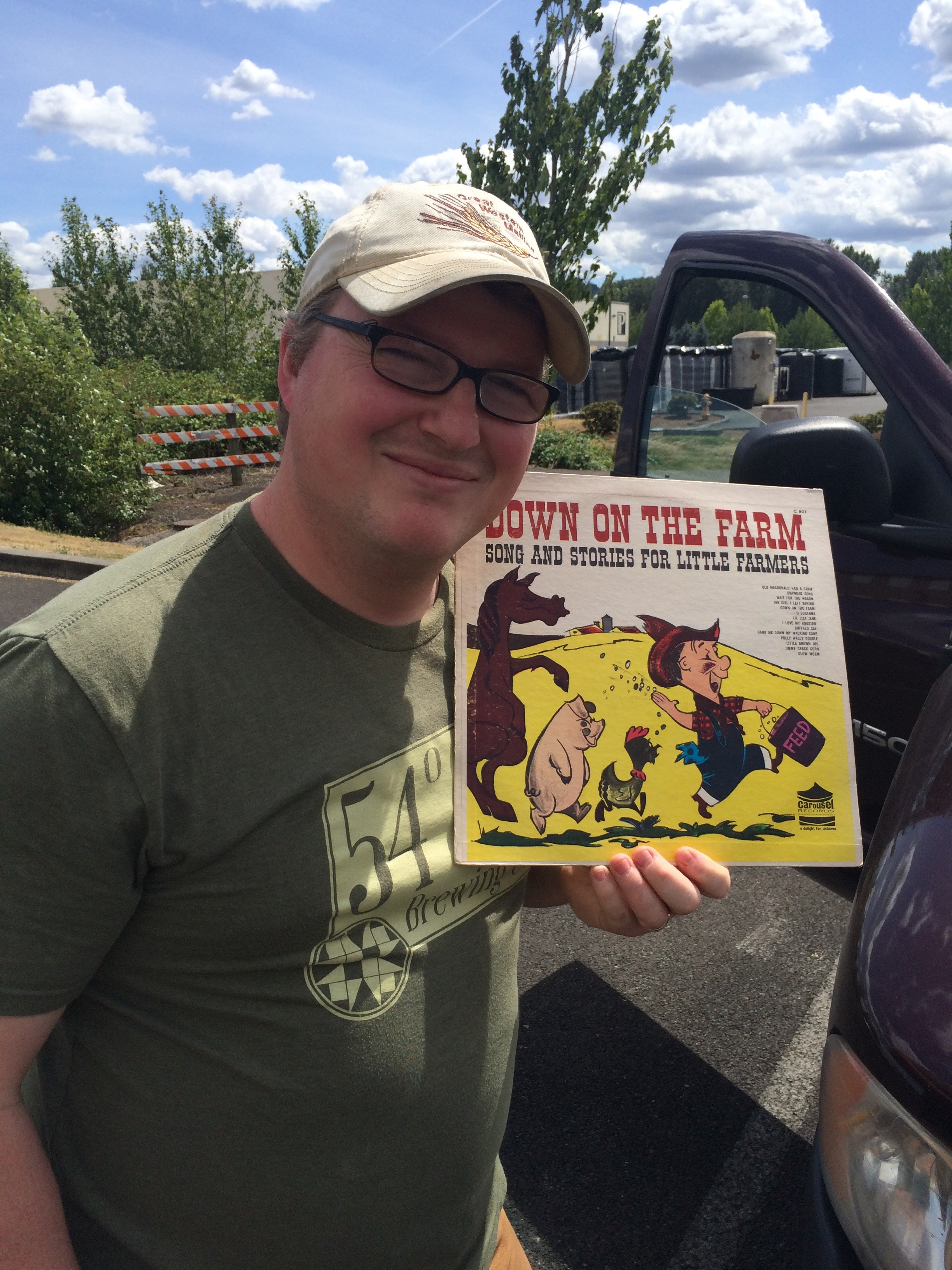 Charlie Hutchins and his favorite album at 54-40 Brewing Co.