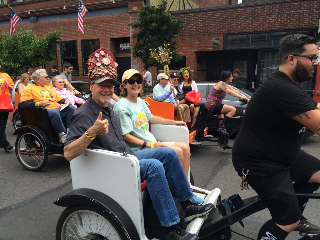 Co-Grand Marshal Rob Widmer in the Oregon Brewers Festival Parade