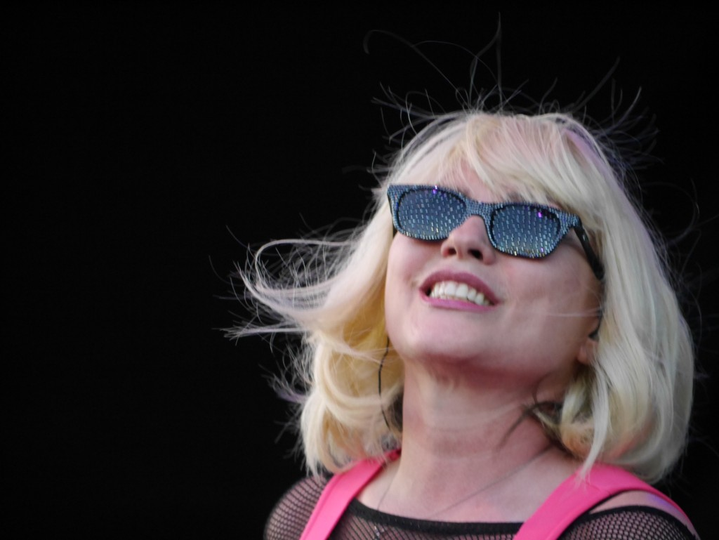 Debbie Harry of Blondie close up at Project Pabst (photo by Cat Stelzer)