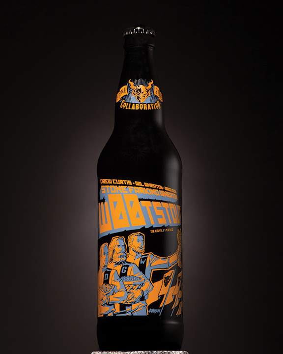 Drew Curtis:Wil Wheaton:Greg Koch Stone Farking Wheaton w00tstout Bottle