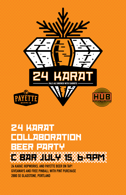 Hopworks Payette 24 Karat C Bar Poster