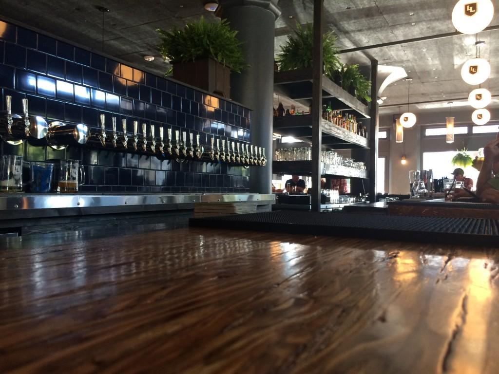 Looking down the bar at Loyal Legion