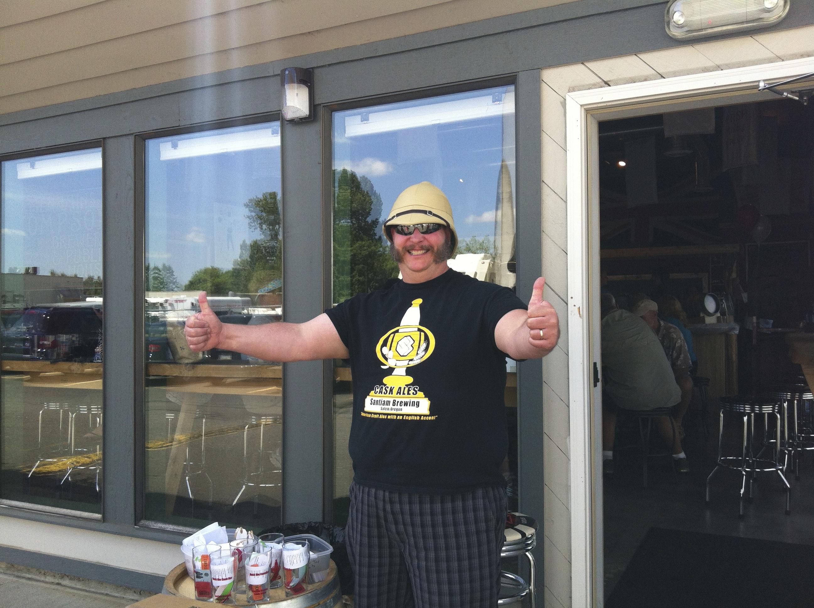 Matthew Killikelly of Santiam Brewing at Rock the Cask Bar