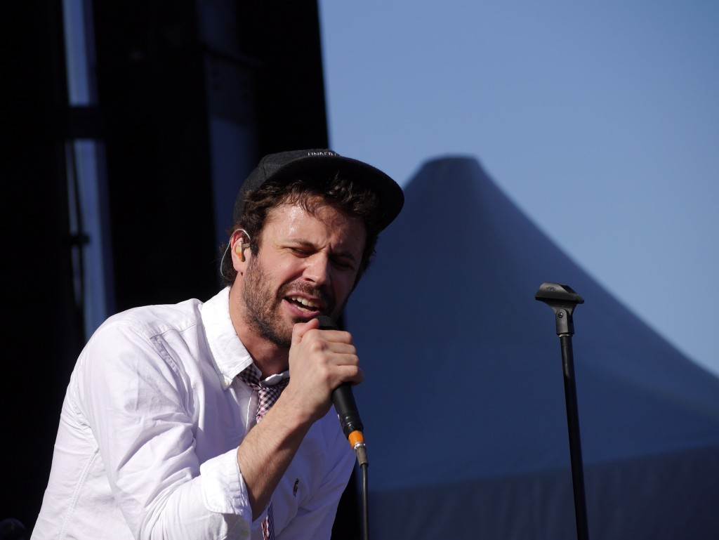Michael Angelakos of Passion Pit at Project Pabst (photo by Cat Stelzer)