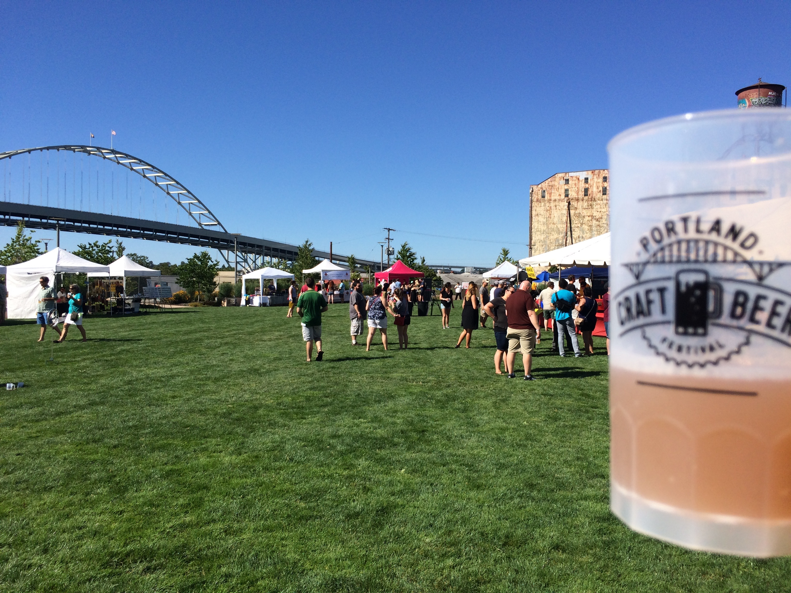 A mug of beer at the 2015 Portland Craft Beer Festival.