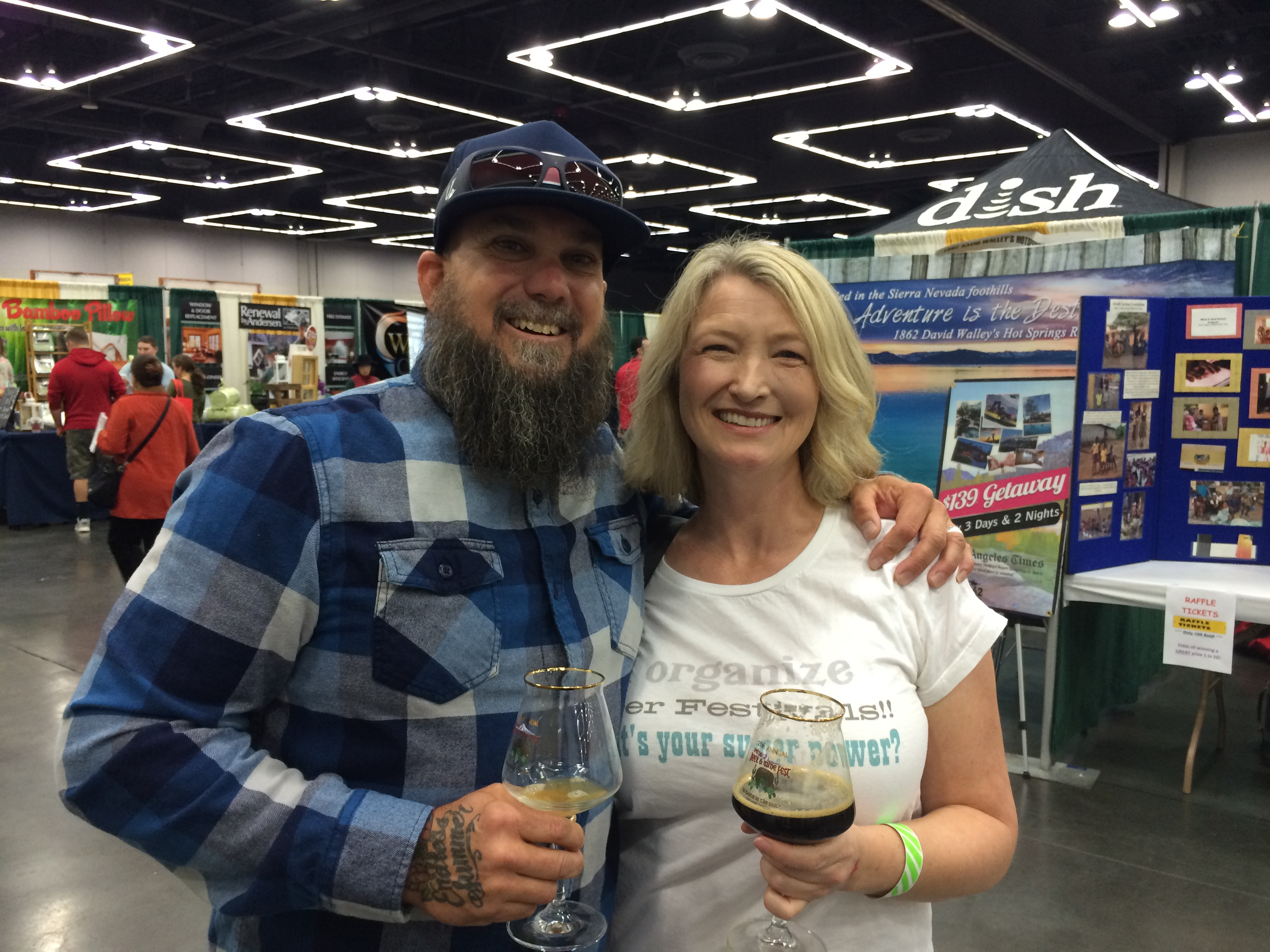 Organic Beer Fest founder Craig Nicholls with Chris Crabb, a local treasure in craft beer festival promotions.