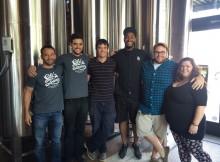 Old Town Brewing's Adam Milne, Jonathan Long, Andrew Lamont, Joe Sanders, Jordan Wilson, and Madeline Buck
