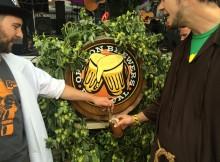Oregon Brewers Festival ceremonial keg of Lompoc Pamplemousse