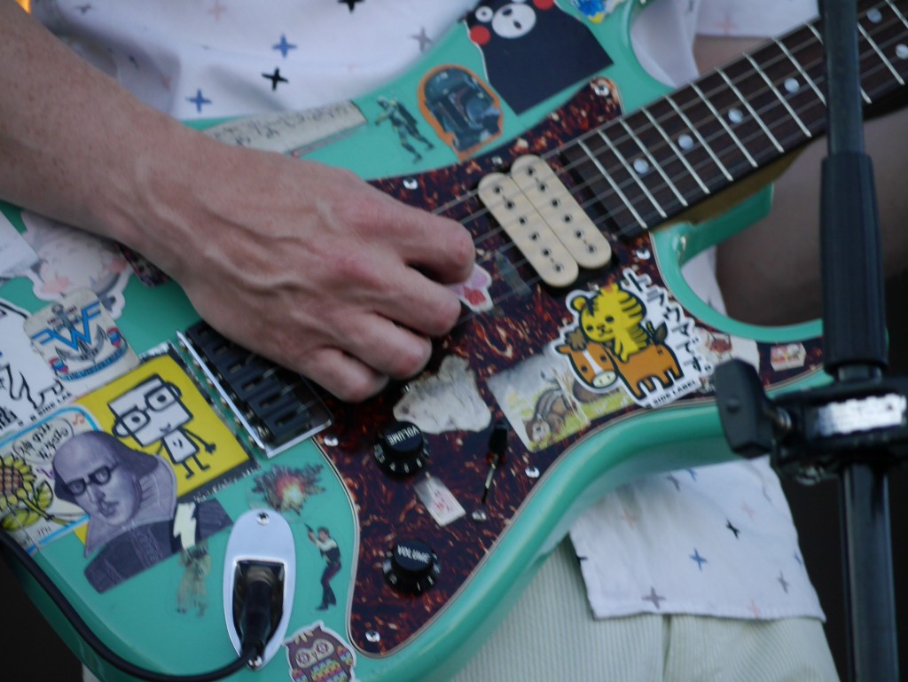 Rivers Cuomo guitar at Project Pabst (photo by Cat Stelzer)
