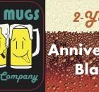 Three Mugs Brewing 2 Year Anniversary Banner