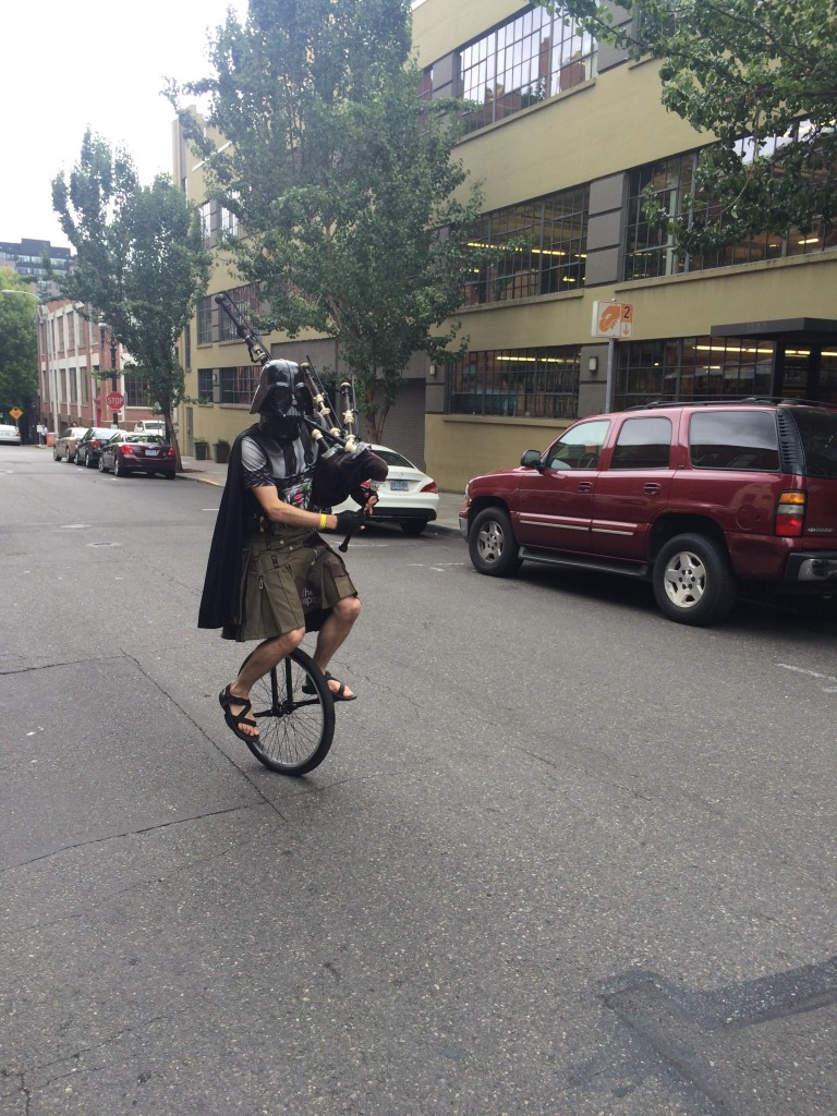 Unipiper part of the Rogue Parade for the Oregon Brewers Festival