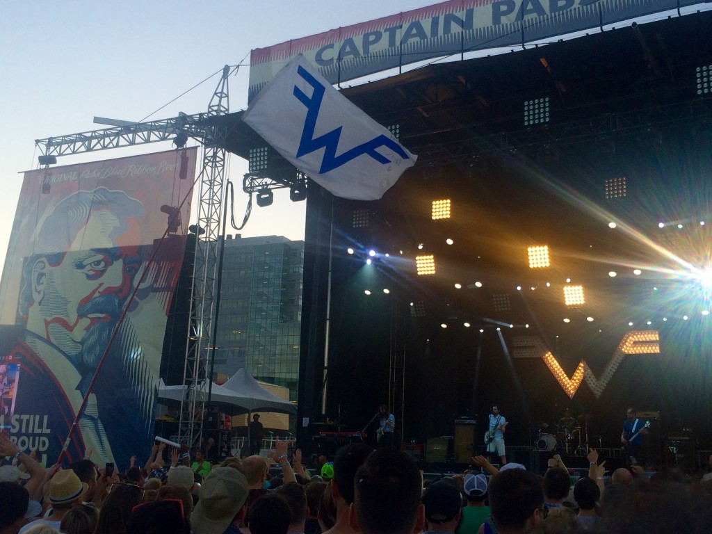 Weezer Flag Flying at Project Pabst (photo by D.J. Paul