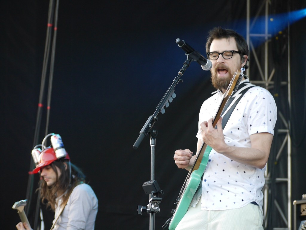 Weezer on stage at Project Pabst (photo by Cat Stelzer)