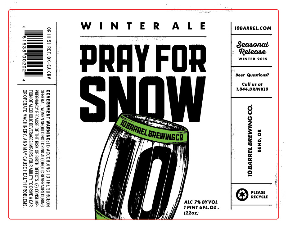 10 Barrel Pray for Snow Winter Ale