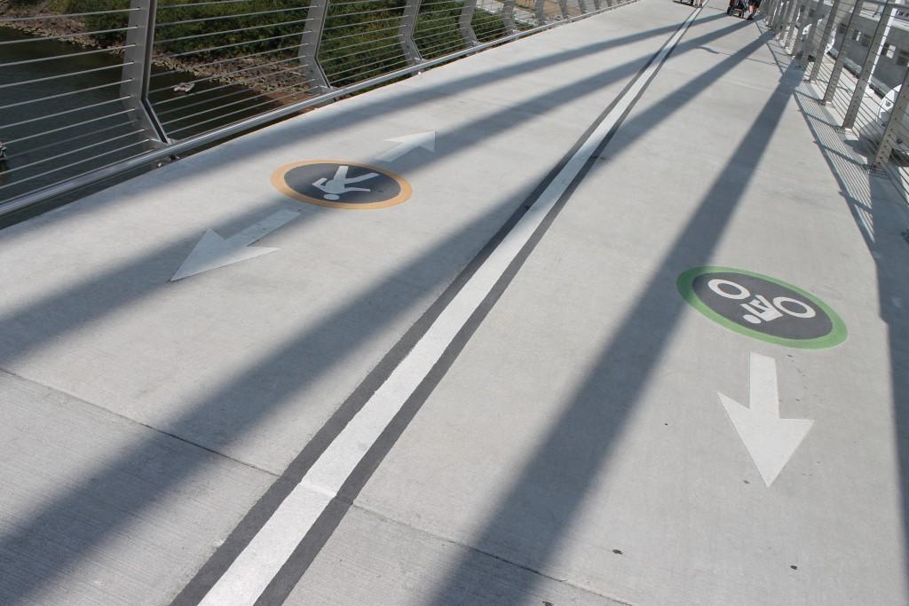 Bike and Walking Lanes on Tilikum Crossing